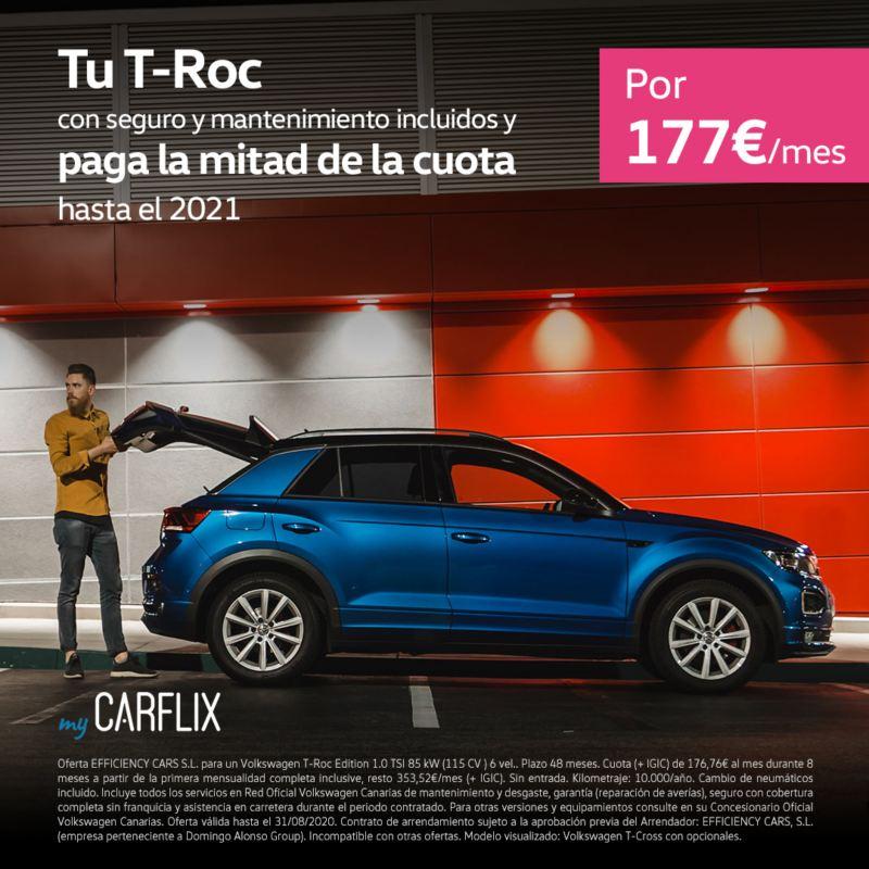 myCarflix renting Volkswagen T-Roc