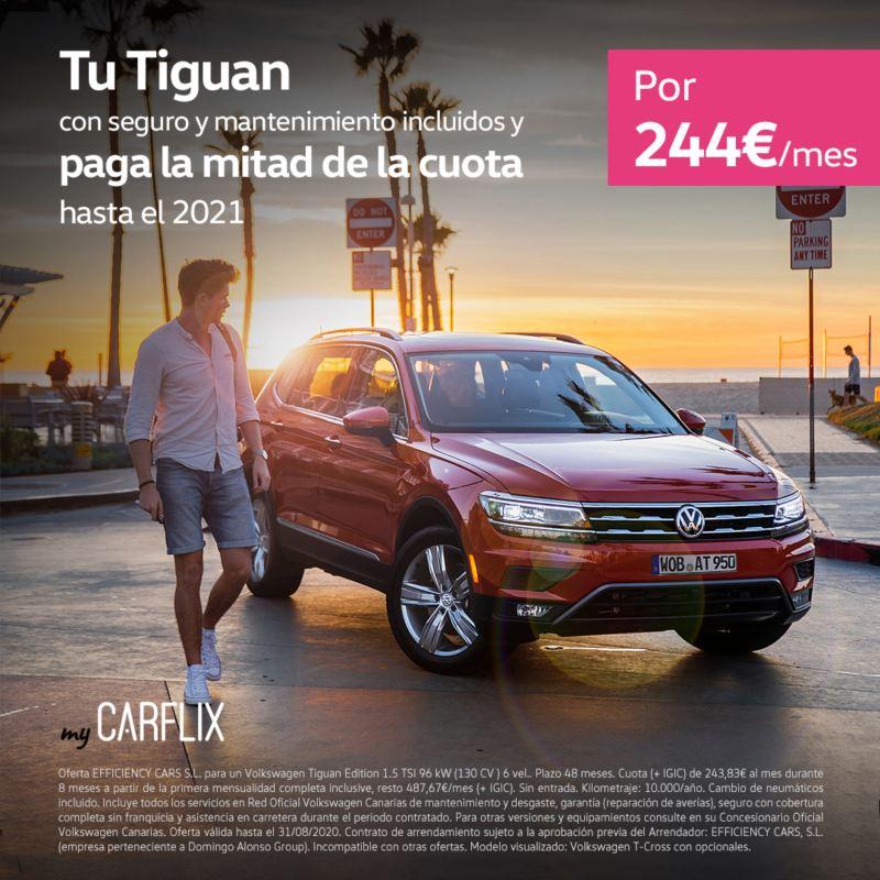 myCarflix renting Volkswagen Tiguan