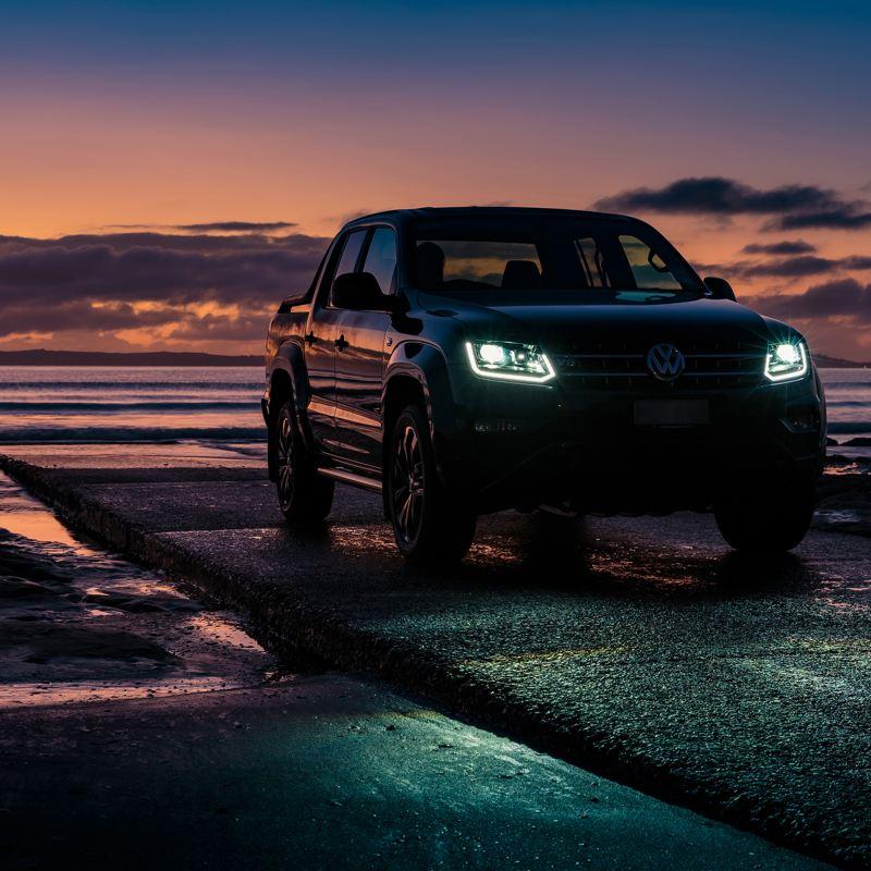 VW Amarok Darkside Edition with V6 badge.