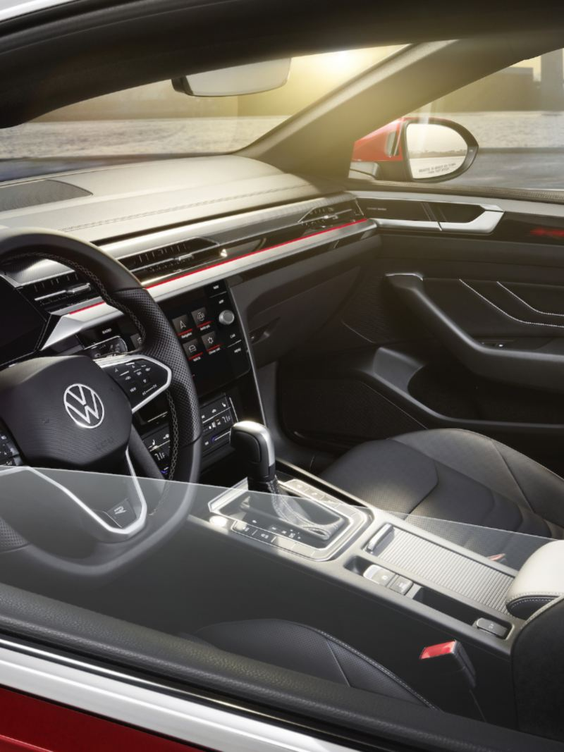 A view of the driver seat in the 2021 Arteon