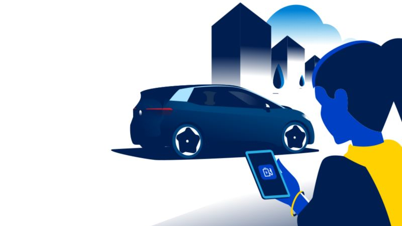 EV Check app on a smartphone