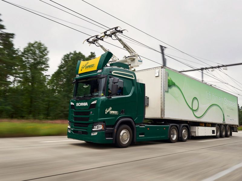 """Scania E-Lkw für deutsche """"eHighways"""" Forschungsprojekt"""