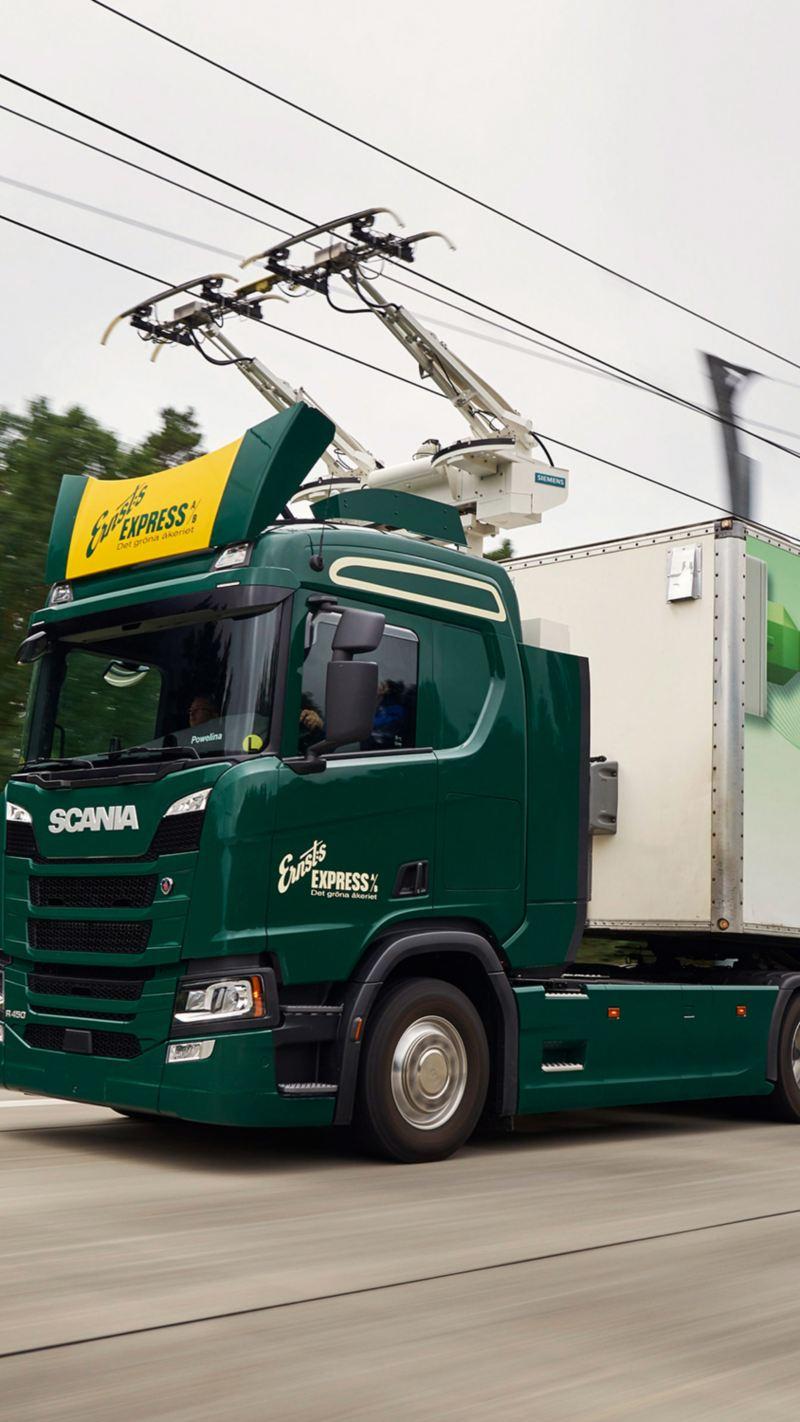 """L'e-truck Scania per il progetto di ricerca tedesco """"eHighways"""""""