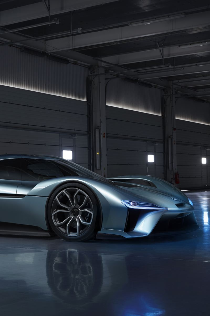 "The ""NIO EP9"" electric sports vehicle"