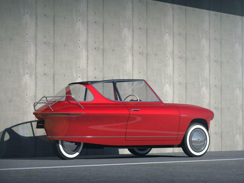 "The e-car ""Nobe 100"" looks like a vintage car"