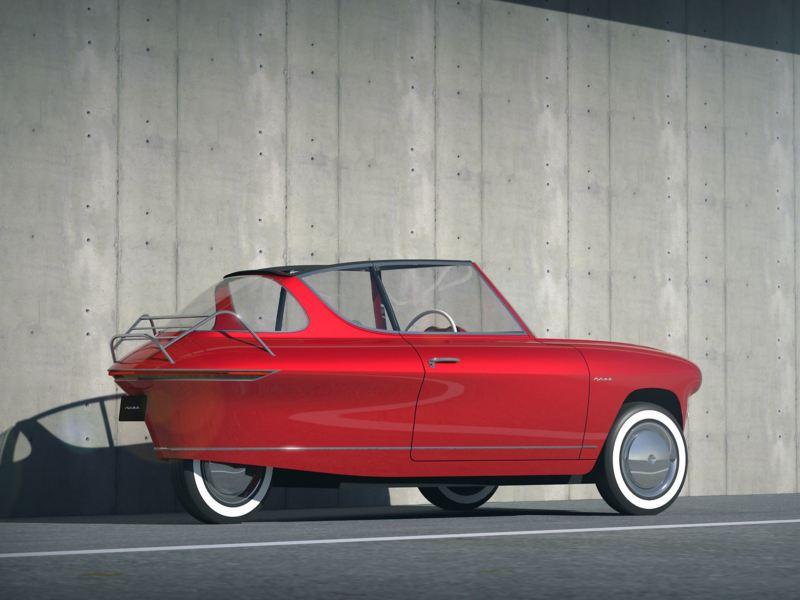 Elektryczne auto Nobe 100 wygląda jak oldtimer