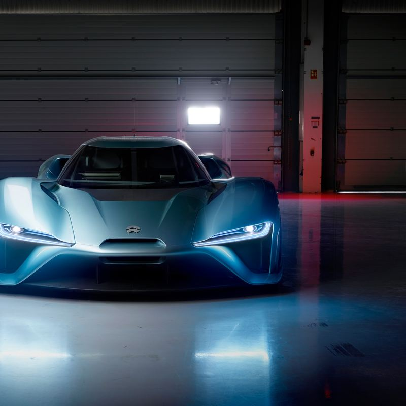 "The electric sports car ""NIO EP9"""