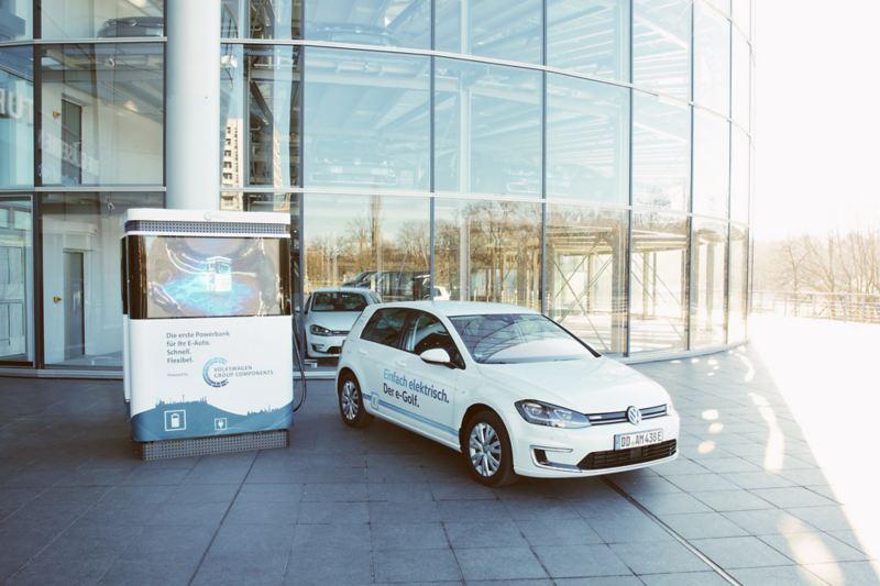 Mobile Ladesäule für Elektroautos von Volkswagen
