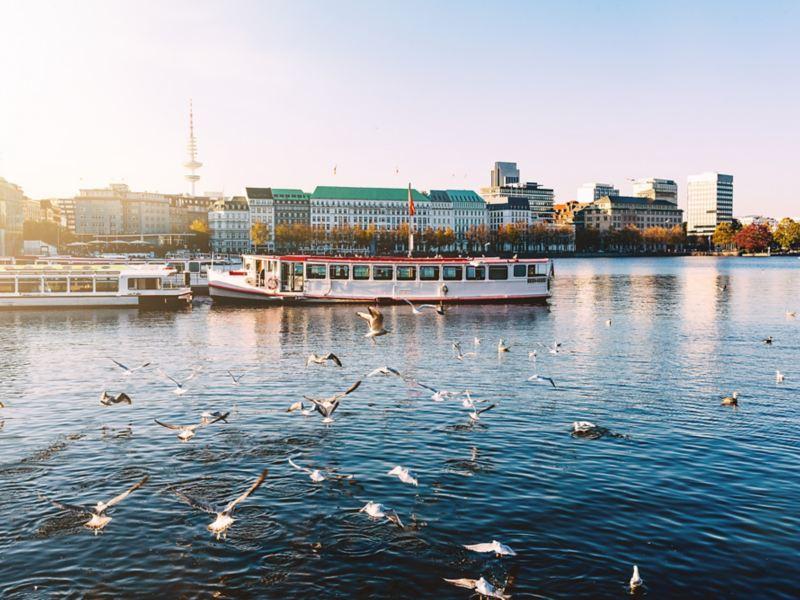Das elektrische Rennen E-Cannonball geht auch durch Hamburg