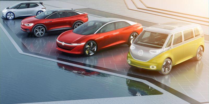 Elektroautos der Volkswagen ID. Familie