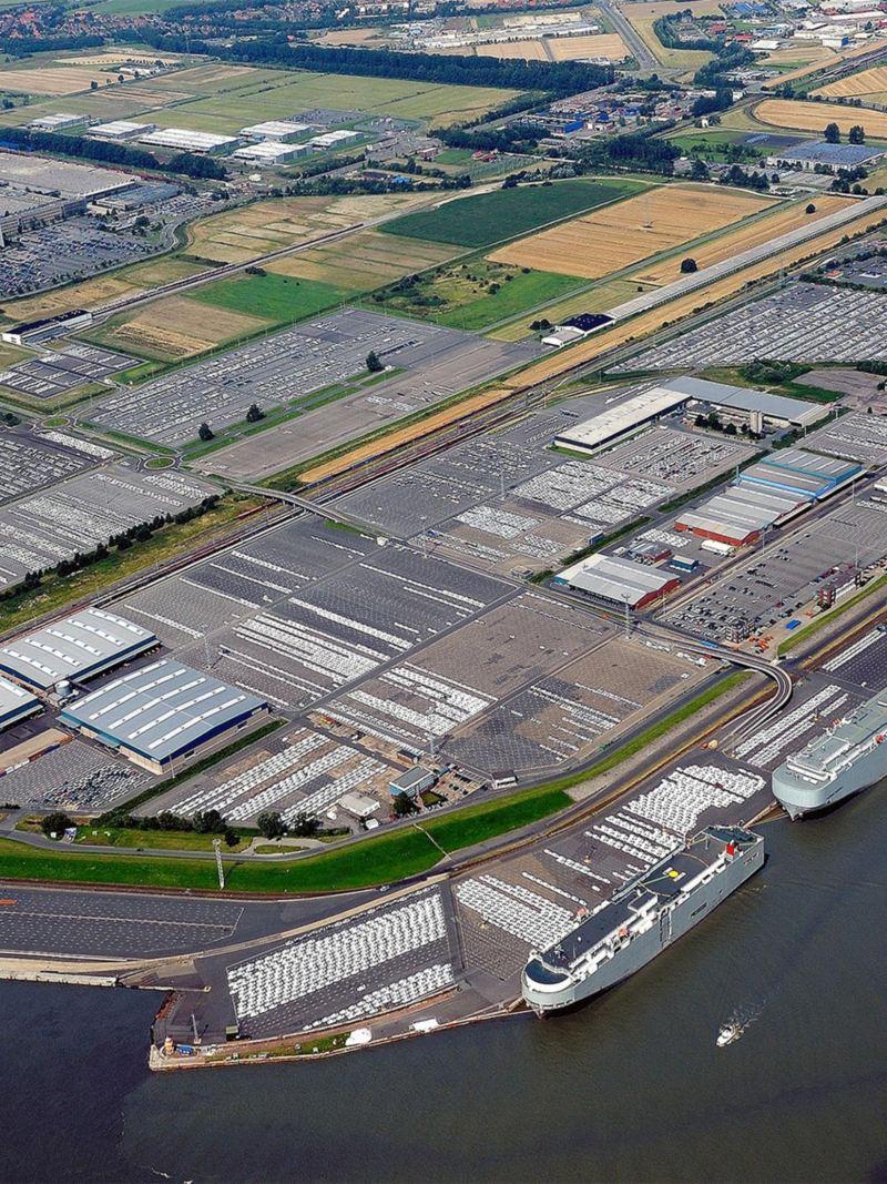 Panorama des Volkswagen Standortes Emden