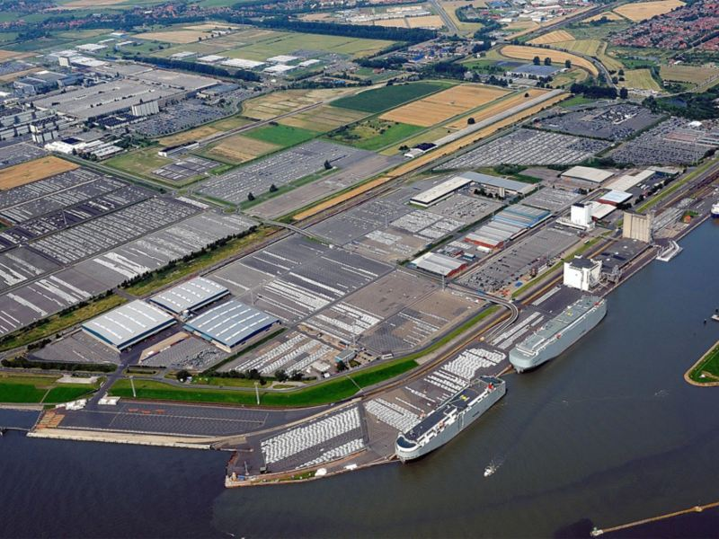 Panorama of Volkswagen's Emden site