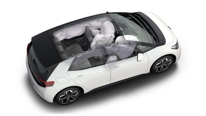 Grafisk fremstilling av VW Volkswagen ID.3 krasjtest euro NCAP