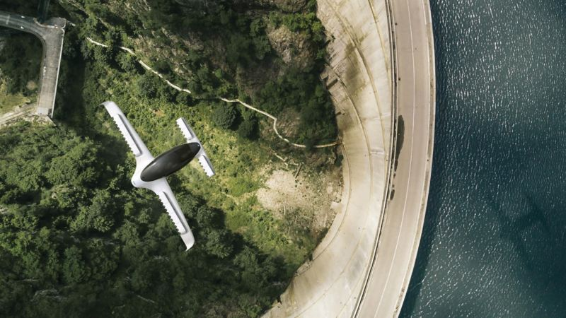 Lilium Jet in volo, fotografato dall'alto