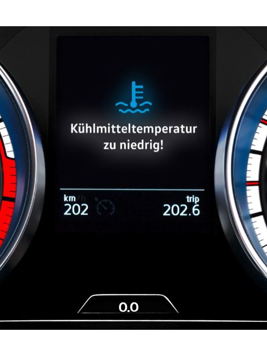 Volkswagen 冷卻水位過低、 溫度過高或系統故障