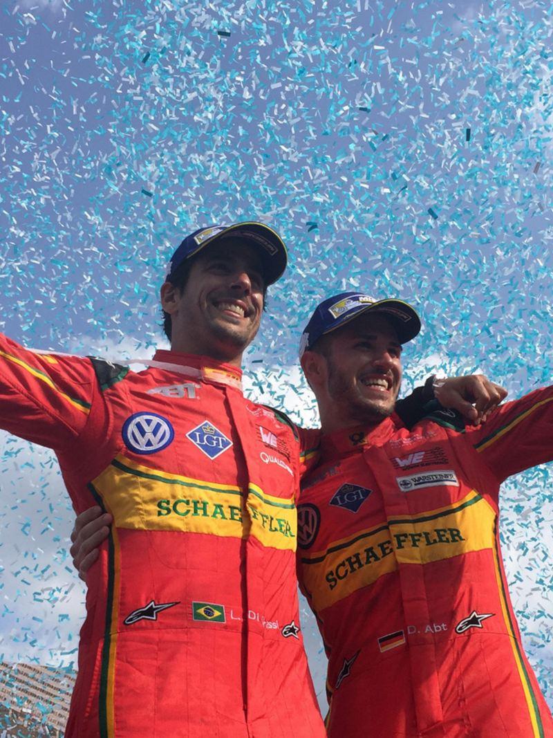 Siegerehrung im elektrischen Motorsport