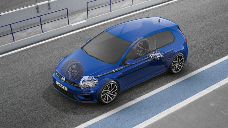 Rappresentazione schematica della frizione per trazione integrale di una Volkswagen Golf R