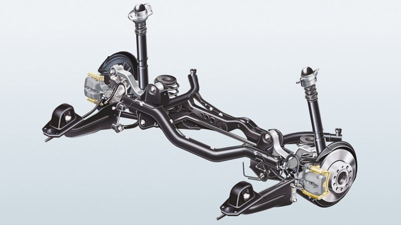 Image of a Volkswagen multi-link rear axle