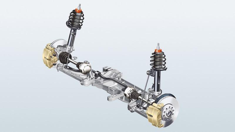 Image of a Volkswagen MacPherson axle