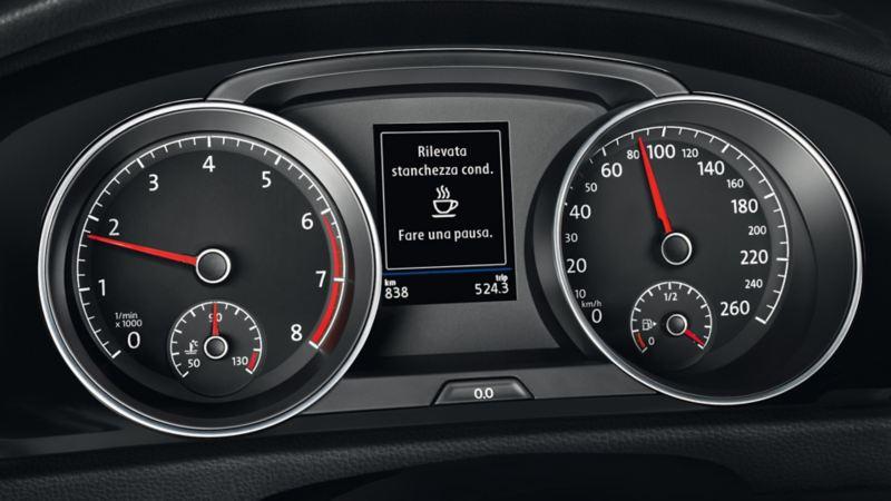 """Spia del sistema di riconoscimento della stanchezza del conducente """"Fare una pausa""""."""