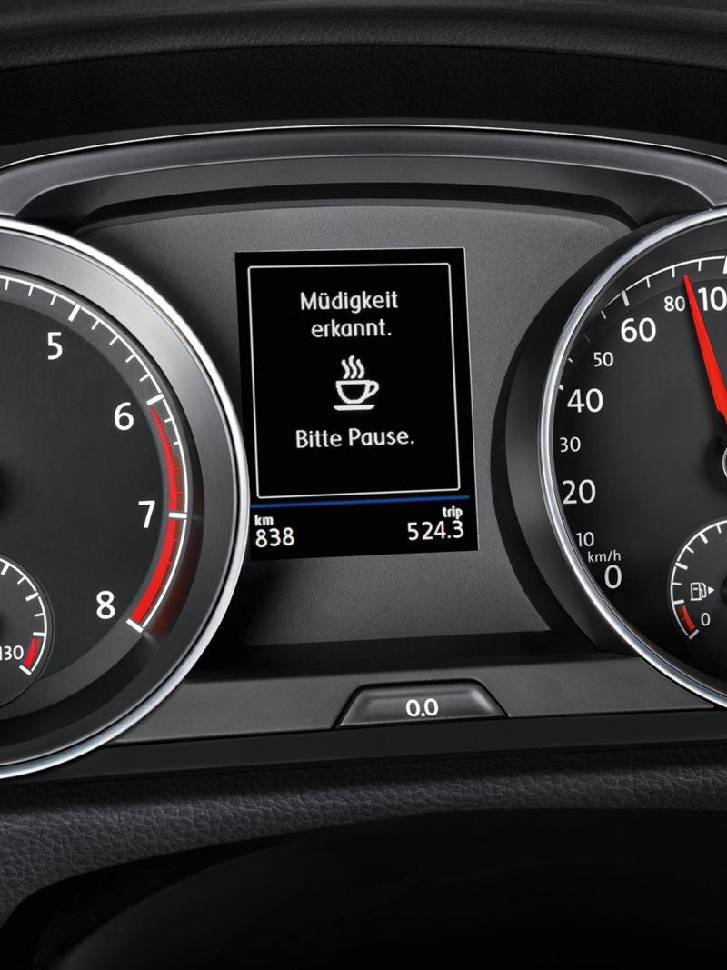 Représentation détaillée du Cockpit avec détecteur de fatigue dans la Golf Sportsvan