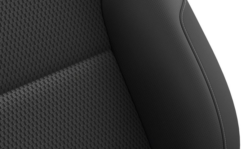 "Seat cover made out of ""Zoom Merlin"" fabric design"