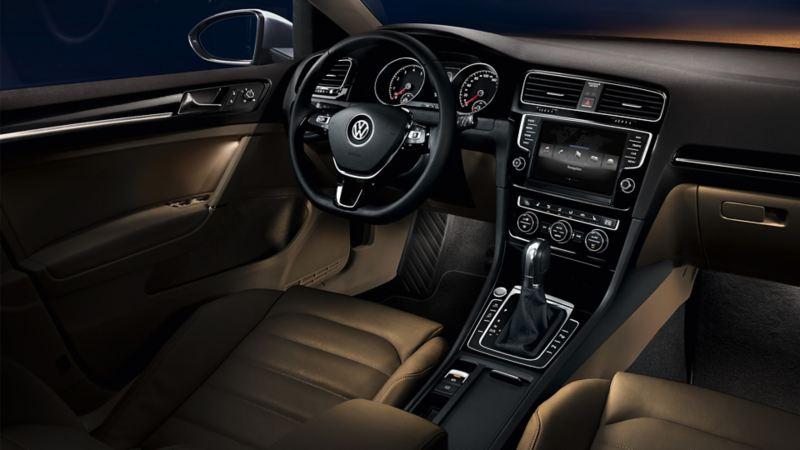 Ambientbeleuchtung in einem VW Golf