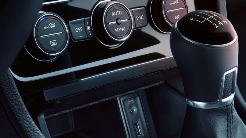 Volkswagen växellåda och instrumentpanel
