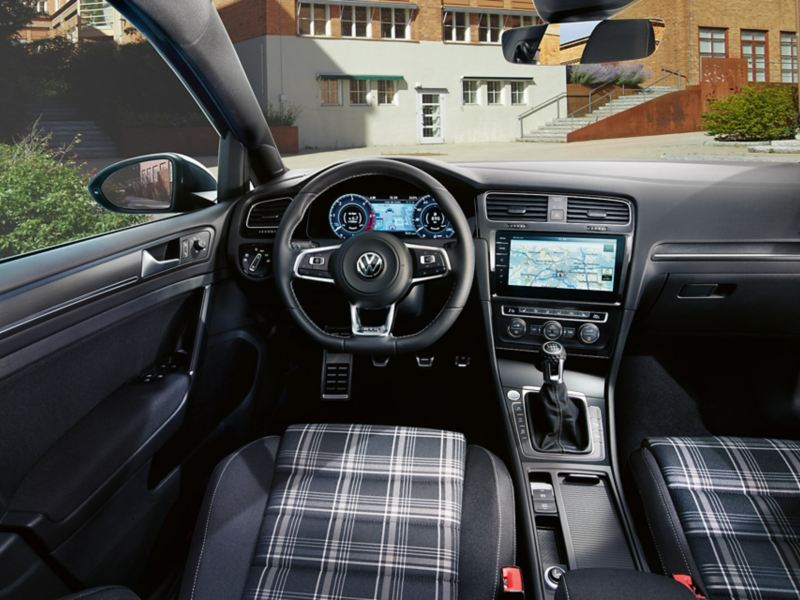 VW Golf GTD interior, from driver's seat to GTD Cockpit