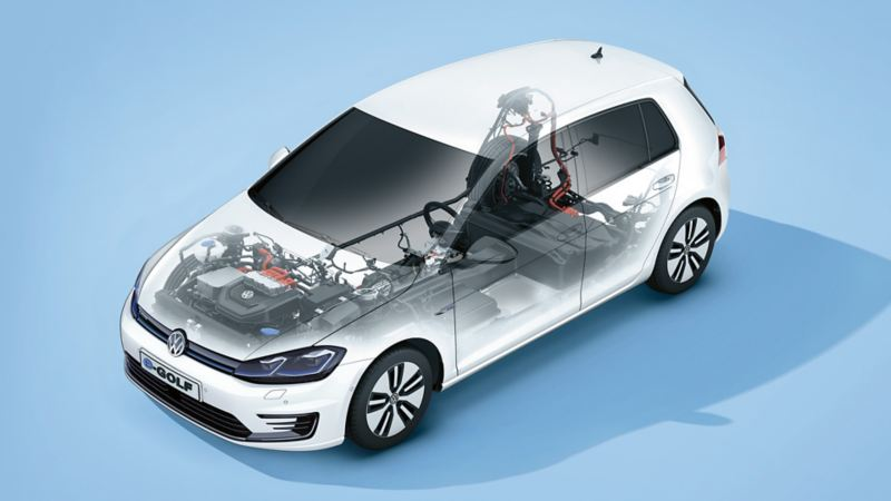 VW e-Golf – batteri og elmotor