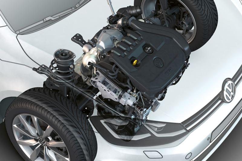 Engine of the VW Golf TGI
