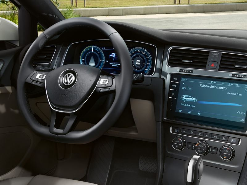Painel de instrumentos e cockpit do VW e-Golf
