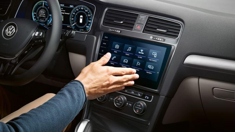Radio og navigasjon i Volkswagen e-Golf