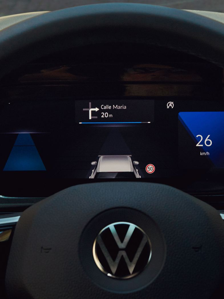 VW Golf digitales Cockpit