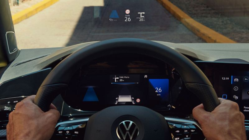 Volkswagen Head-up-Display førerassistentsystem
