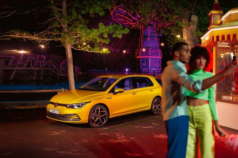 Promozione Golf 8 laterale di Nuova Golf 8 la nuova berlina connessa di Volkswagen
