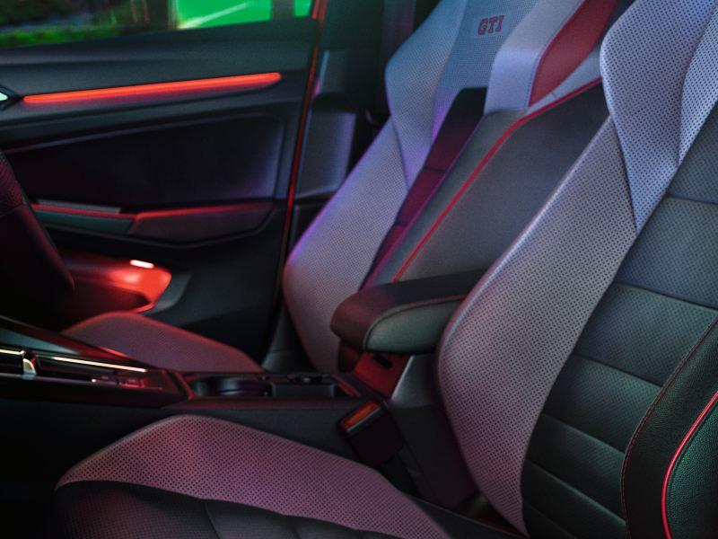 La VW Golf GTI équipée de sièges top sport