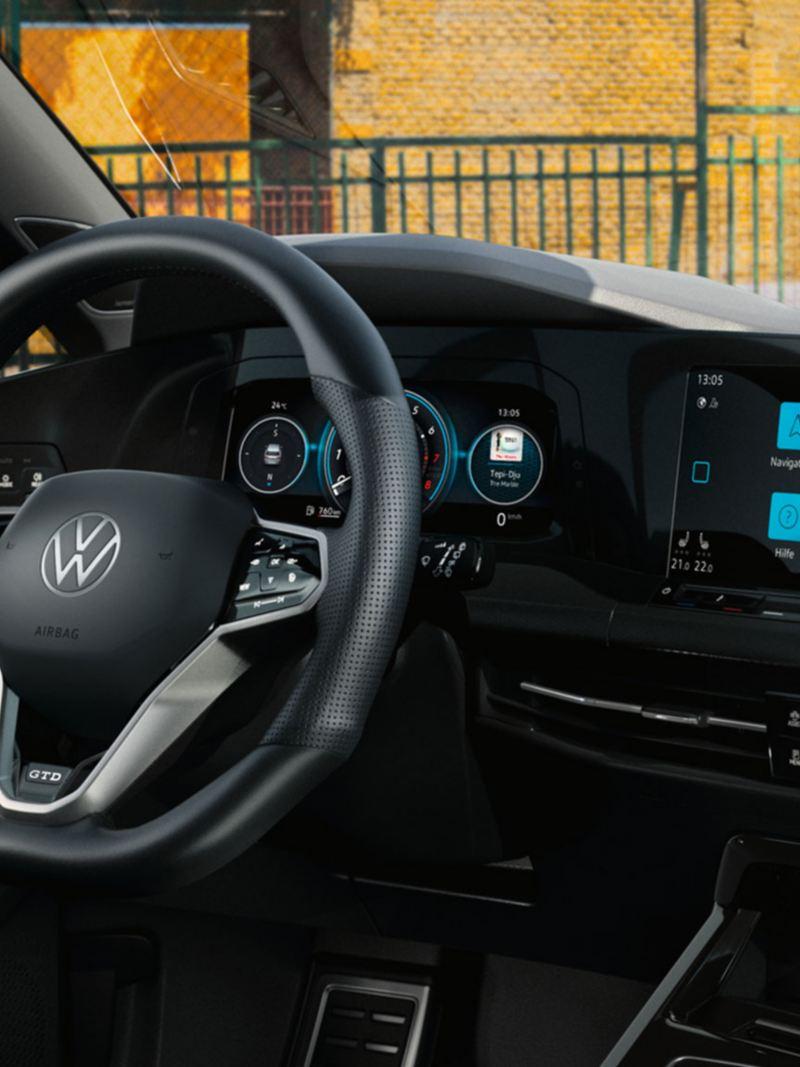 Touch-Lenkrad im Golf GTD