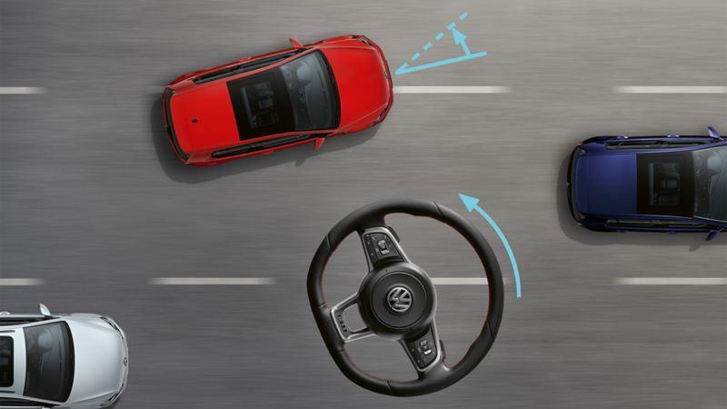 Volkswagen Golf GTI Performance, grafica dello sterzo progressivo