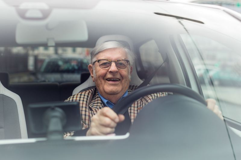 Driving in the e-up! is like a holiday for Gerhard Heinz