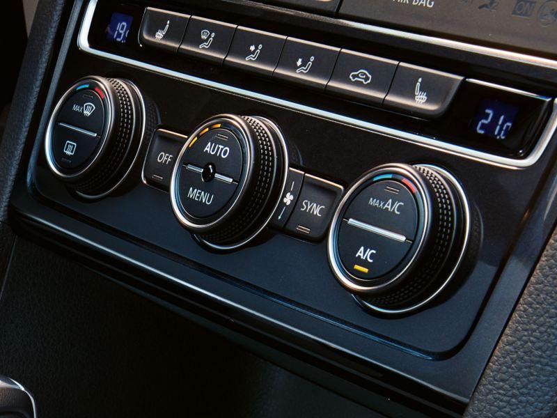 Particolare climatizzatore Climatronic su Volkswagen e-Golf