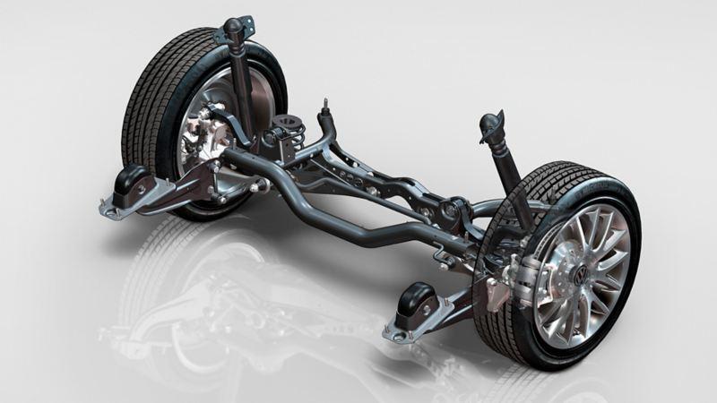 Abbildung einer Volkswagen Schräglenkerachse