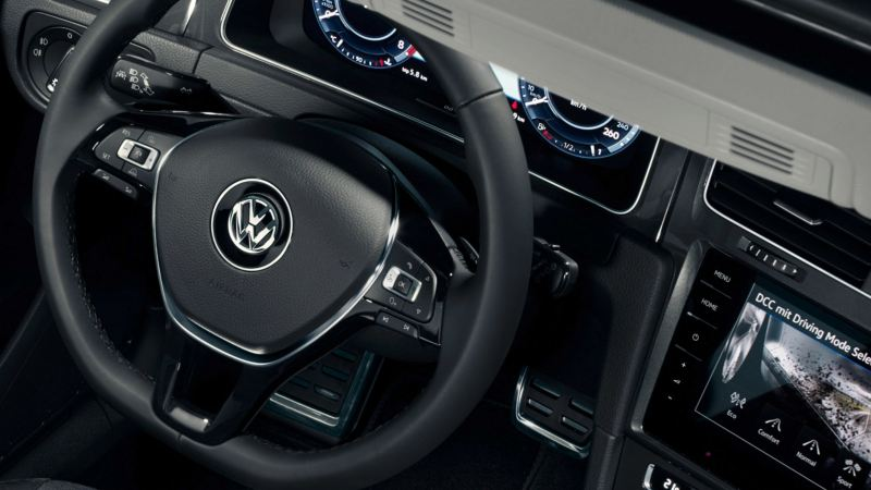 Interior of VW Golf Alltrack