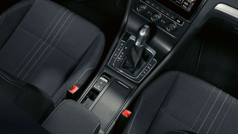 VW Golf centre console, electronic parking brake detail