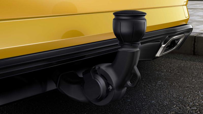 Volkswagen Golf, dettaglio del gancio traino