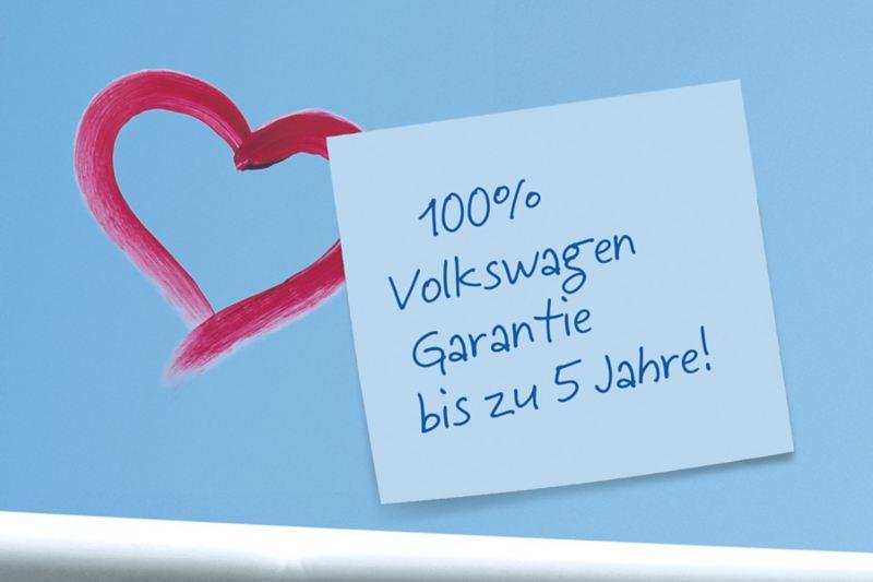 Volkswagen Garantie bis zu 5 Jahre