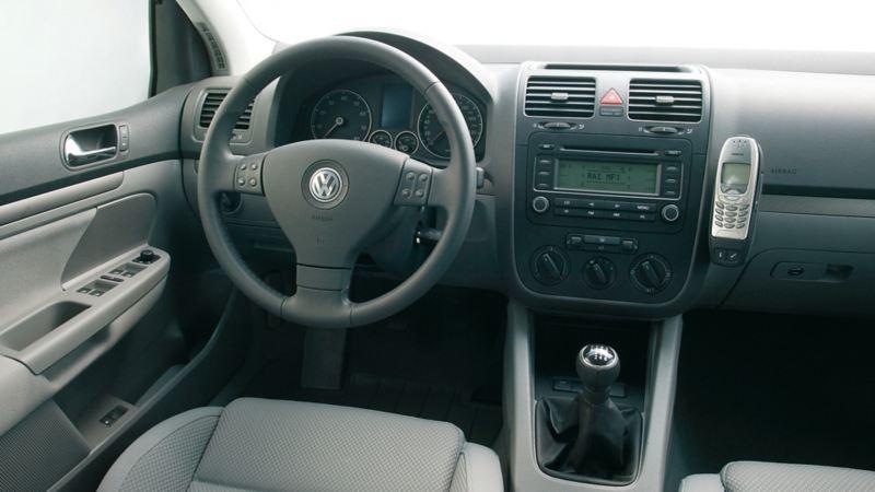 interni Golf V particolare cockpit