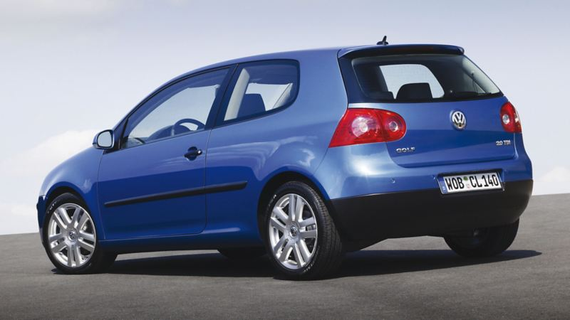 vista posteriore Golf 5 color blu chiaro