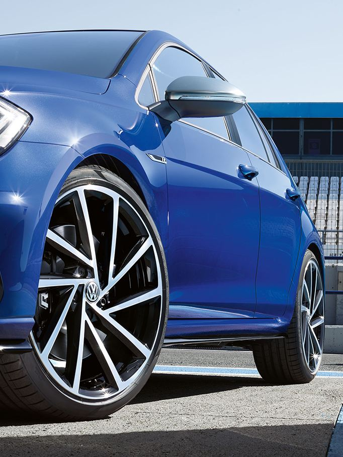 Golf R on the race track.