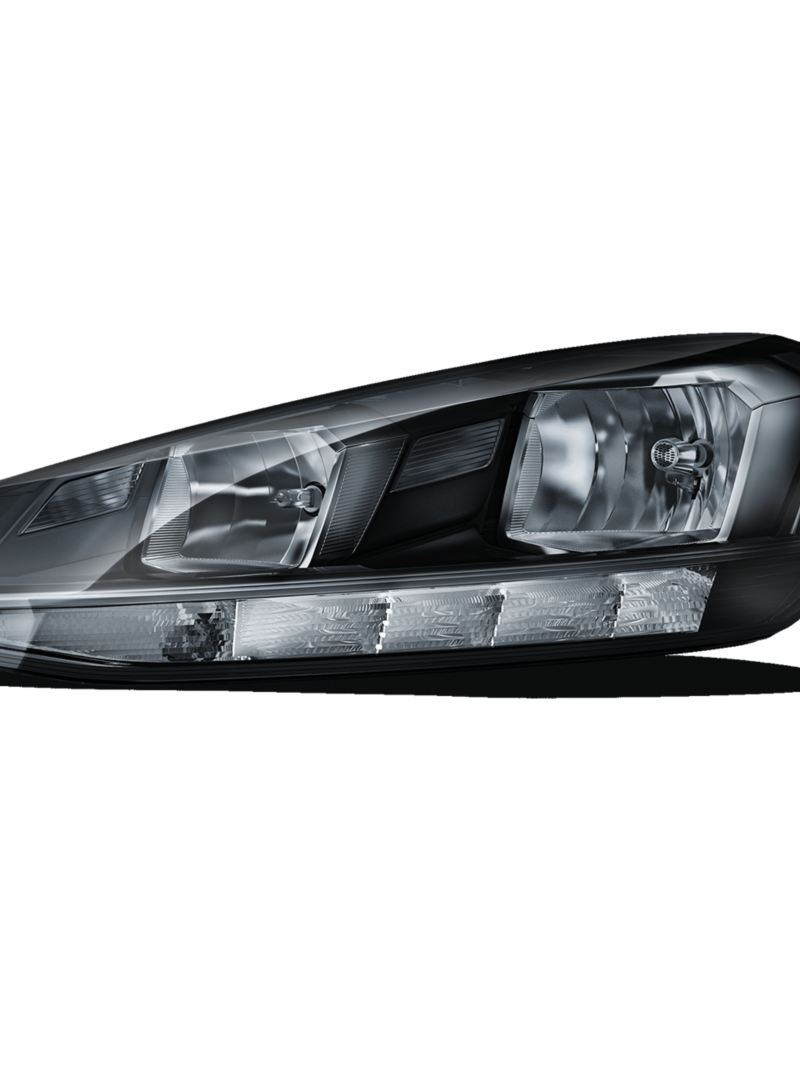 Image of the halogen headlights from the VW Golf Alltrack